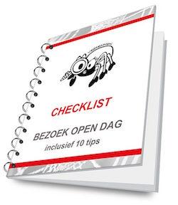 Omslag van de pdf checklist open dagen